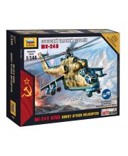 Сборная модель Советский ударный вертолет Ми 24В ZVEZDA