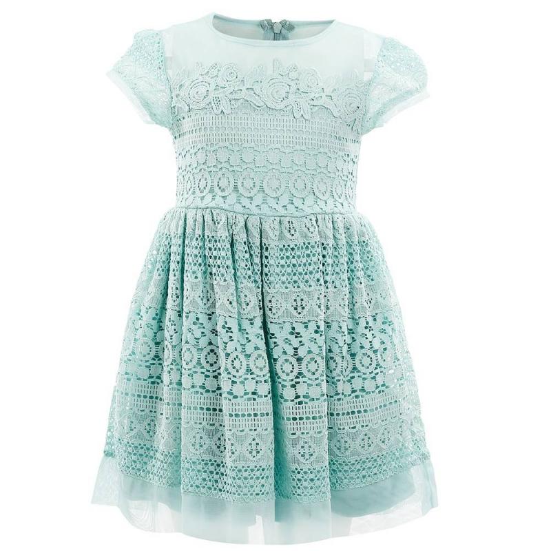 ПлатьеПлатье бирюзовогоцвета марки Mayoral.<br>Стильное хлопковое платье на подкладке выгодно подчеркнуто нежным кружевом и вставками-сеточкой. Модель застегивается на потайную молнию на спинке.<br><br>Размер: 5 лет<br>Цвет: Бирюзовый<br>Рост: 110<br>Пол: Для девочки<br>Артикул: 647056<br>Страна производитель: Китай<br>Сезон: Весна/Лето<br>Состав: 67% Хлопок, 28% Полиамид, 5% Вискоза<br>Состав подкладки: 100% Полиэстер<br>Бренд: Испания<br>Вид застежки: Молния