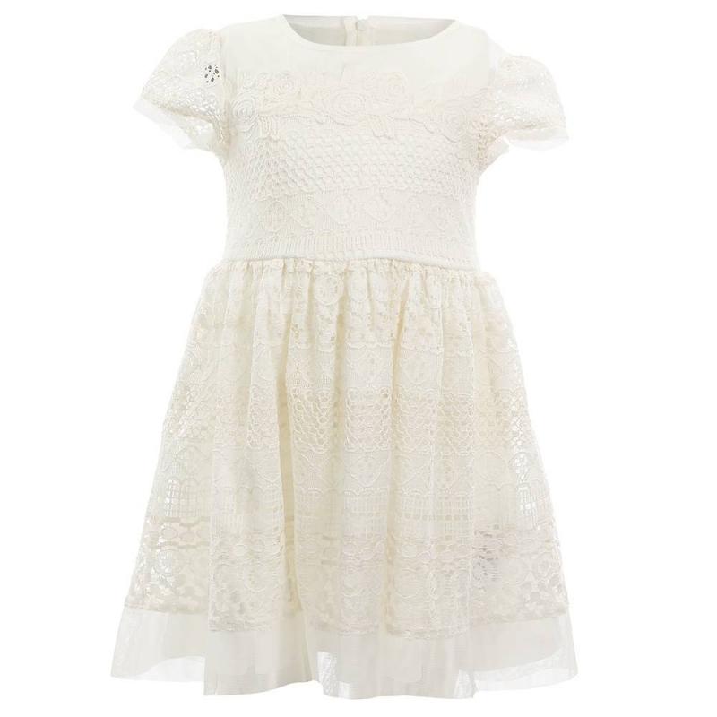 ПлатьеПлатье молочного цвета марки Mayoral.<br>Стильное хлопковое платье на подкладке выгодно подчеркнуто нежным кружевом и вставками-сеточкой. Модель застегивается на потайную молнию на спинке.<br><br>Размер: 9 лет<br>Цвет: Бежевый<br>Рост: 134<br>Пол: Для девочки<br>Артикул: 646325<br>Страна производитель: Китай<br>Сезон: Весна/Лето<br>Состав: 67% Хлопок, 28% Полиамид, 5% Вискоза<br>Состав подкладки: 100% Полиэстер<br>Бренд: Испания<br>Вид застежки: Молния