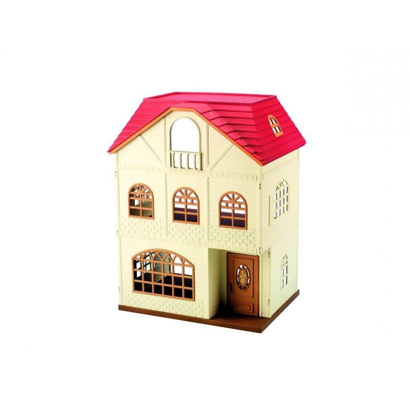 Набор Трехэтажный домНабор Трехэтажный доммарки Sylvanian Families.<br>Перемещаться между этажами можно с помощью лестниц. Задняя стенка у дома отсутсвует, чтобы было удобнее играть. Пол между третьим и вторым этажами можно вынуть, перевернуть зеленой стороной вверх и использовать как лужайку.<br>В набор входит: большой дом с небольшим балконом.<br><br>Возраст от: 4 года<br>Пол: Для девочки<br>Артикул: 653018<br>Страна производитель: Китай<br>Бренд: Япония<br>Размер: от 4 лет