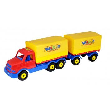Игрушки, Автомобиль с прицепом Wader 650415, фото