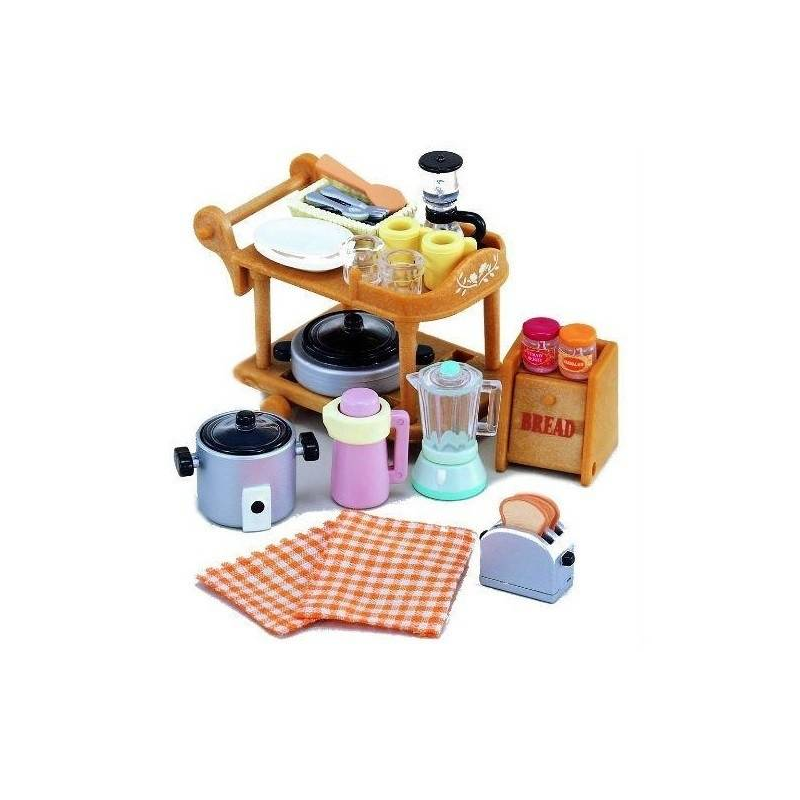 Sylvanian Families Набор Кухонная посуда красный лагерь на открытом воздухе кемпинга кухонная посуда кухонная посуда кухонная посуда 2 3 человек пикник посуда посуда teapot set