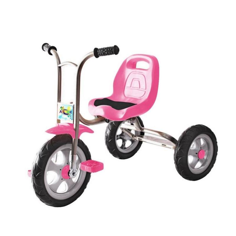 Велосипед трехколесный Galaxy ЛучикВелосипед трехколесный Galaxy Лучикмалиновогоцвета марки RT.<br>Яркий солнечный трехколесный велосипедGalaxy Лучиклегкий и прост в конструкции.Облегченная металлическая рама, покрытая порошковой краской,придает надежность и продлевает срок службы. Модель оснащена бесшумными устойчивыми полиуретановыми колесами, эргономичным сиденьем и удобным рулем с мягкими ручками. Благодаря такой модели велосипеда Ваш ребенок весело и с пользой проведет время.<br>Размер велосипеда:76х46х59 (от пола до руля) /34 (до сиденья)см.<br>Размер колес: переднее- 10дюймов, заднее- 8дюймов.<br>Размер упаковки:51х33х45см.<br>Максимальная нагрузка 30 кг.<br>Вес: 5 кг.<br>Рекомендуется для детей от 1,5 года.<br><br>Цвет: Малиновый<br>Возраст от: 18 месяцев<br>Пол: Не указан<br>Артикул: 650454<br>Бренд: Россия<br>Размер: от 18 месяцев