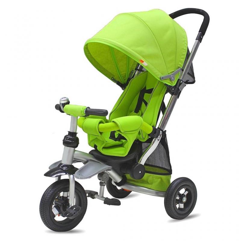 Велосипед-коляска трехколесный Modi 2016 Air Stroller kiwiВелосипед-коляска трехколесный Modi 2016 Air Stroller kiwiмарки RT.<br>Яркийтрехколесныйвелосипед-коляска предназначен для детей от 6-8 месяцев. Особенность данной модели заключается в ее управление - управление в одно касание, благодаря ей велосипедом легко управлять, он становится маневренным, таким как прогулочная коляска.Модель оснащена надувными колесами с ножным тормозом на заднейпаре, высоким и глубоким сиденьем, обеспечивающим ребенку комфорт на прогулке. Сиденье с мягкими бортиками, его положения можно менять.<br>Для удобства родителей предусмотрена прочная ручка как у коляски, ее положения по высоте также можно менять. Вовремя дождя или жаркого дня ребенка защитит складной и съемный капюшон с сетчатым окошком.Безопасность ребенку обеспечивают съемныйбарьер и специальные ремни.<br>Модель имеет удобную функцию - свободное колесо. Благодаря этой функции вы сможете фиксировать педали, и ваш ребенок может кататься на велосипеде, а также можно дать педалям свободный ход. Для уставших ножек у велосипеда предусмотрены удобные съемные подножки. Так же есть функция свободный руль, которая позволяет крутить руль в разные стороны, не мешая движению во время того как вы управляете велосипедом.<br>Для всех необходимых вещей для прогулки или любимых игрушек предусмотрена переносная корзина, выполненная из ткани.<br>Размер велосипеда:85,5х52х100 см.<br>Размер упаковки: 62х40х29 см.<br>Максимальная нагрузка: 30 кг.<br>Вес: 11 кг.<br><br>Цвет: Зеленый<br>Возраст от: 6 месяцев<br>Пол: Не указан<br>Артикул: 650268<br>Страна производитель: Китай<br>Бренд: Россия<br>Размер: от 6 месяцев