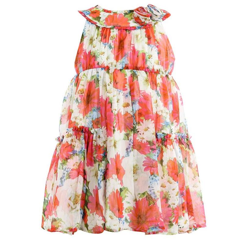 ПлатьеПлатье красногоцвета марки Mayoral.<br>Легкое платье на подкладке декорировано стильным цветочным принтом, а также украшено объемными цветами и рюшами. Модель застегивается на потайную молнию на спинке.<br><br>Размер: 5 лет<br>Цвет: Красный<br>Рост: 110<br>Пол: Для девочки<br>Артикул: 646314<br>Страна производитель: Китай<br>Сезон: Весна/Лето<br>Состав: 100% Полиэстер<br>Состав подкладки: 100% Полиэстер<br>Бренд: Испания<br>Вид застежки: Молния