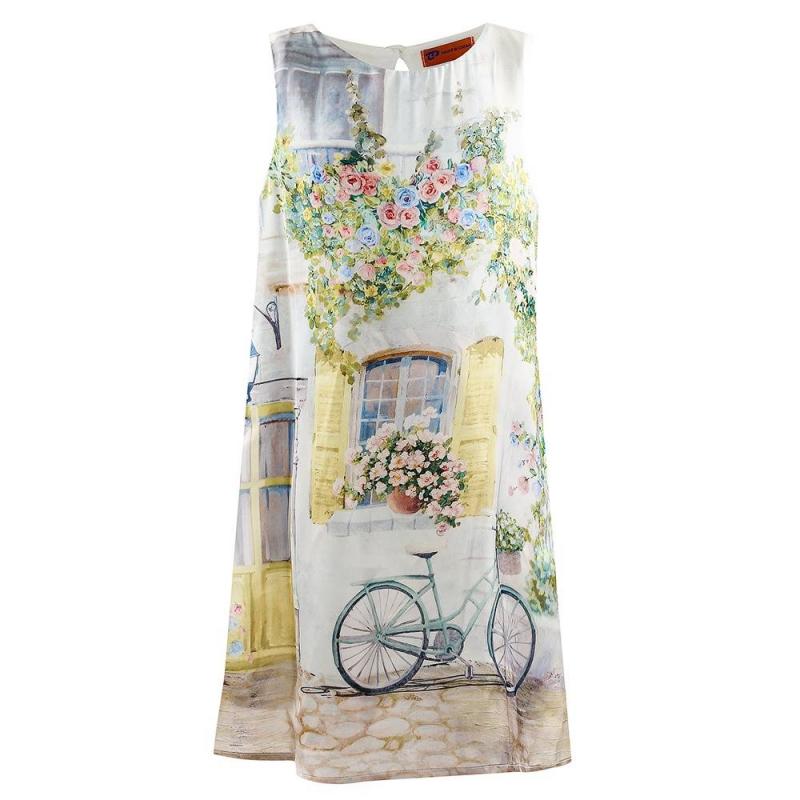 ПлатьеПлатье желтого цвета марки Mayoral.<br>Стильное платье на подкладке с плиссированной спинкой декорировано летним принтом с изображением окошка и велосипеда. Имеется пуговица для удобства переодевания.<br><br>Размер: 12 лет<br>Цвет: Желтый<br>Рост: 152<br>Пол: Для девочки<br>Артикул: 646066<br>Страна производитель: Китай<br>Сезон: Весна/Лето<br>Состав: 100% Полиэстер<br>Состав подкладки: 100% Полиэстер<br>Бренд: Испания<br>Вид застежки: Пуговицы