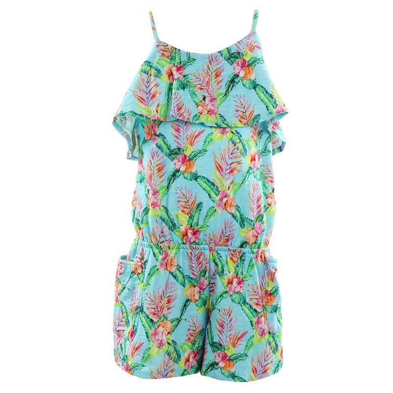 КомбинезонКомбинезон бирюзового цвета марки Mayoral для девочек.<br>Комбинезон выполнен из стопроцентного хлопка и украшен летним цветочным принтом, а также дополнен рюшами и боковыми карманами. Модель на лямках с резинкой на поясе.<br><br>Размер: 14 лет<br>Цвет: Бирюзовый<br>Рост: 157<br>Пол: Для девочки<br>Артикул: 646059<br>Страна производитель: Китай<br>Сезон: Весна/Лето<br>Состав: 100% Хлопок<br>Бренд: Испания