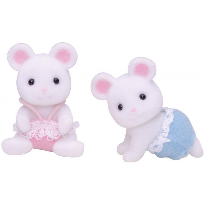 Набор Белые Мышата-двойняшки