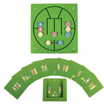Игрушки, Настенный игровой элемент Три в ряд Beleduc 657049, фото