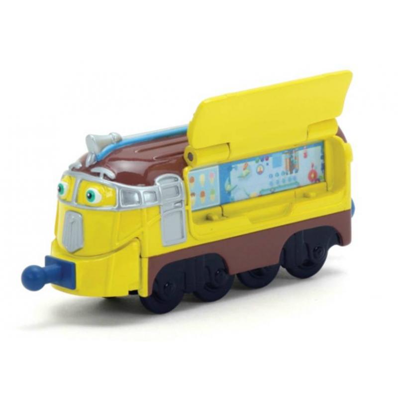 Паровозик ФростиниПаровозик Фростини марки Tomy.<br>Фростини - знаменитый на весь Чаггинктон коллекционер рецептов мороженого. Он может сделать это любимое лакомство детей из чего угодно. Игрушечный паровозик полностью похож на своего экранного героя. Детализированный и красочный дизайн и подвижные колеса делают эту игрушку привлекательной для каждого юного любителя паровозиков Чаггингтон.<br>Серия Die-Cast представляет собой паровозики, которые в точности повторяют своих экранных героев из мультсериала Веселые паравозики из Чаггингтона. Мультипликационные истории о жизни паровозиков увлекают своими сюжетами не только детей, но и их родителей.Все паровозики Чаггингтон можно скреплятьдруг с другом благодаря специальным соединениям. У Фростини с одной стороны открывается дверца контейнера для мороженого.<br><br>Возраст от: 3 года<br>Пол: Для мальчика<br>Артикул: 653160<br>Бренд: США<br>Лицензия: Chuggington<br>Размер: от 3 лет