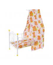 Кроватка для куклы с балдахином Мишка Наша Игрушка