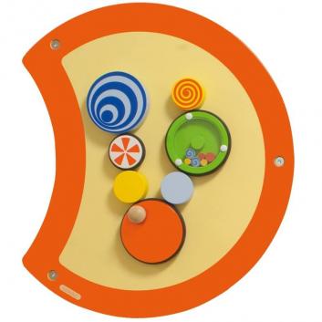 Игрушки, Настенный игровой элемент Гусеница Волчок Beleduc 657054, фото