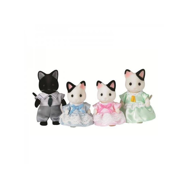 Sylvanian Families Набор Семья Чёрно-белых котов игровая фигурка sylvanian families набор семья чёрно белых котов