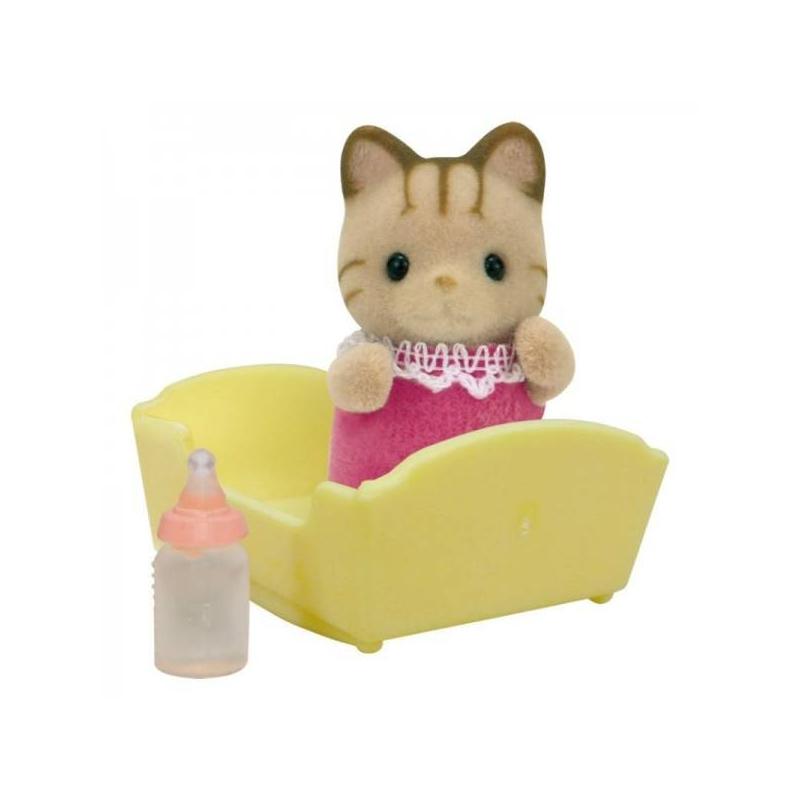 Набор Малыш Полосатый котёнокНабор Малыш Полосатый котёнок марки Sylvanian Families.<br>В набор входит: котенокс кроваткой и детскойбутылочкой.<br><br>Возраст от: 3 года<br>Пол: Для девочки<br>Артикул: 653110<br>Страна производитель: Китай<br>Бренд: Япония<br>Размер: от 3 лет