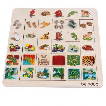 Игрушки, Развивающий пазл Джунгли 24 детали Beleduc 657073, фото