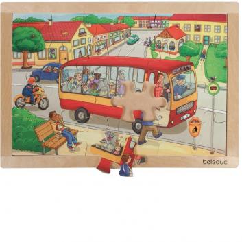 Игрушки, Развивающий пазл Городок 24 детали Beleduc 657074, фото
