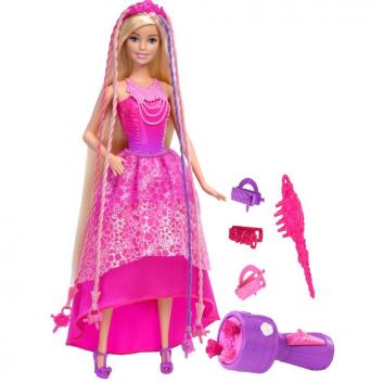 Игрушки, Кукла-принцесса Barbie с волшебными волосами Mattel 639645, фото