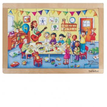 Игрушки, Развивающий пазл День рождения 24 детали Beleduc 657075, фото