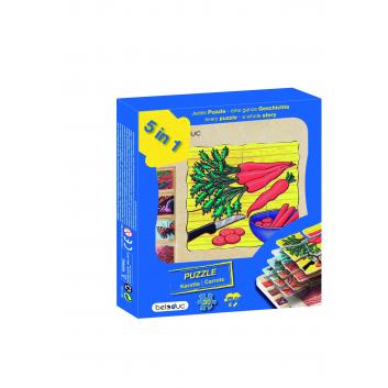 Игрушки, Развивающий пазл Морковка 30 деталей Beleduc 657080, фото