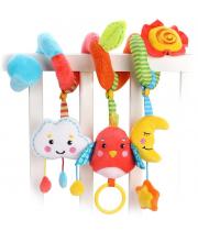Растяжка с развивающими игрушками Лесная сказка Жирафики