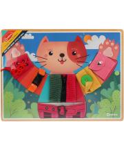 Головоломка-шнуровка Мишкины застежки Наша Игрушка
