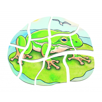 Развивающий пазл Лягушка