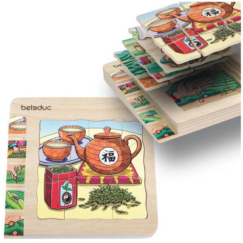 Развивающий пазл Чай 30 деталей