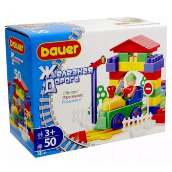 Игрушки, Конструктор Железная дорога 50 элементов Bauer 564504, фото