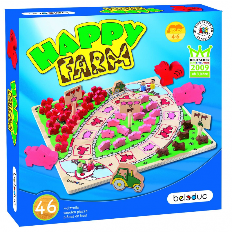 Beleduc Развивающая игра Веселая ферма beleduc развивающая игрушка зоопарк