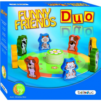 Игрушки, Развивающая игра Веселые друзья Дуо Beleduc 657108, фото