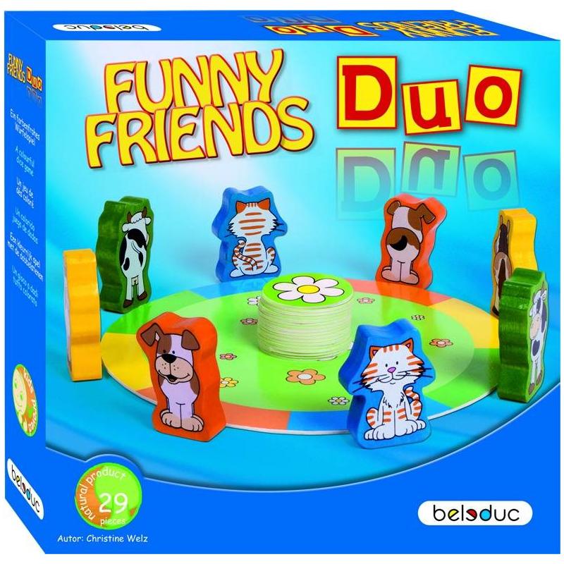 Beleduc Развивающая игра Веселые друзья Дуо