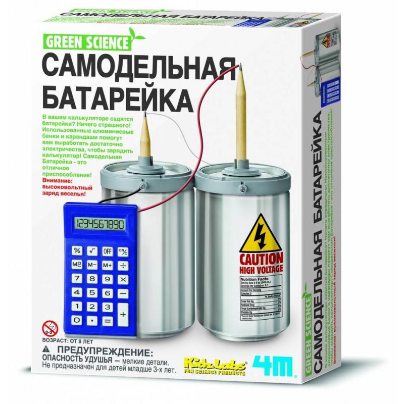 4М Самодельная батарейка наборы для творчества 4м набор веселые штампики 00 04614