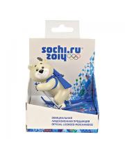 Игрушка-талисман Белый Мишка Лыжник Sochi 2014