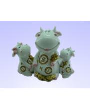 Копилка Корова с монетами SHISHI
