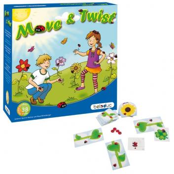 Игрушки, Развивающая игра Мув энд Твист Beleduc 657116, фото