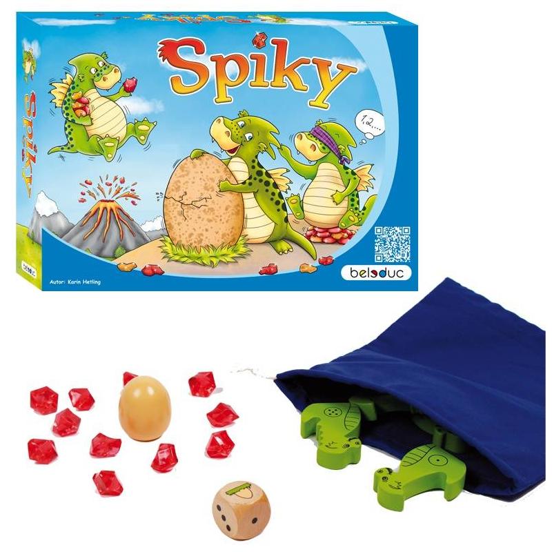 Beleduc Развивающая игра Спайки beleduc развивающая игрушка зоопарк