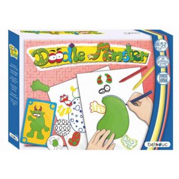 Игрушки, Развивающая игра Дудл-монстр Beleduc 657127, фото