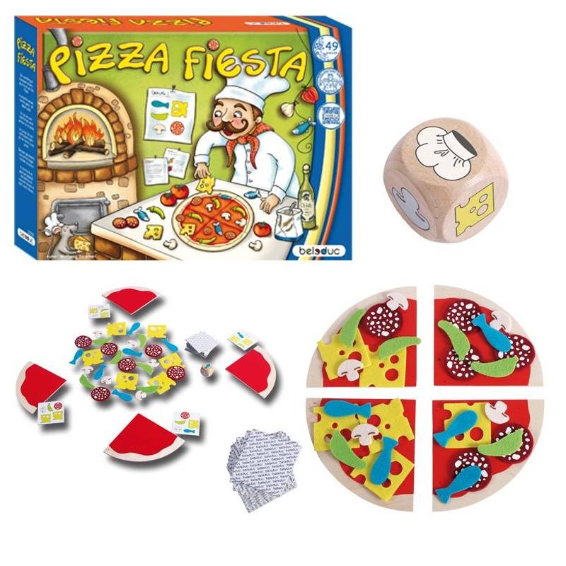Beleduc Развивающая игра Пицца Фиеста beleduc развивающая игрушка зоопарк