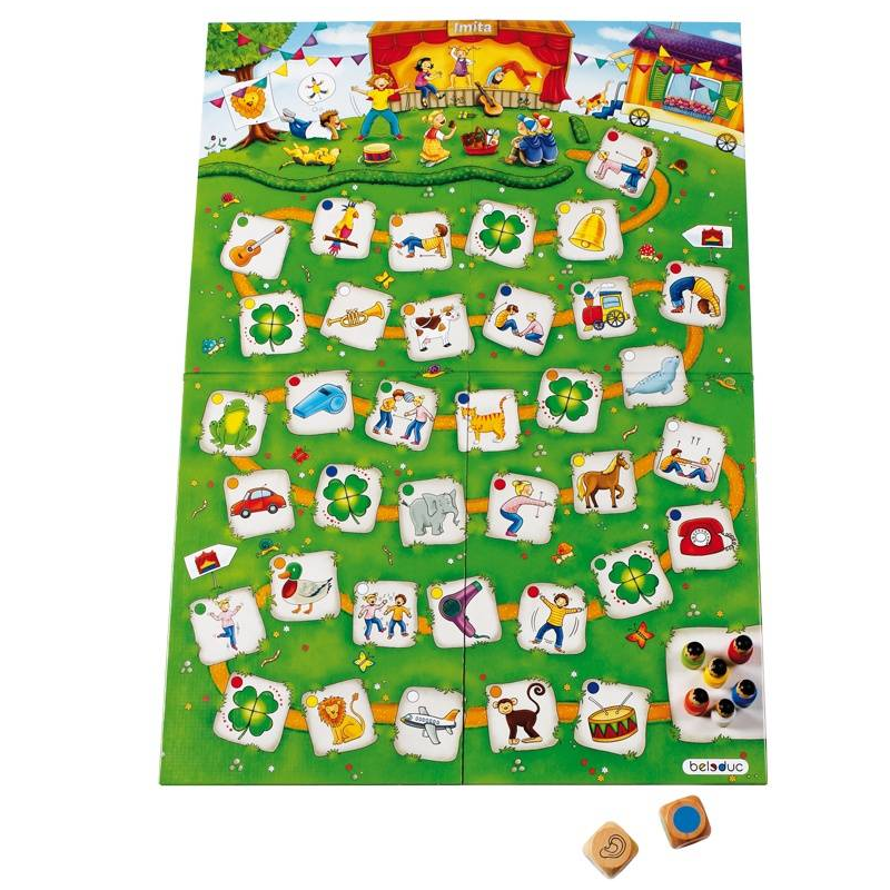 Beleduc Развивающая игра Подражайка beleduc развивающая игрушка зоопарк