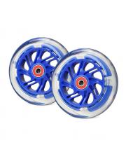 Светящиеся колеса передние 120 мм 2 шт Trolo