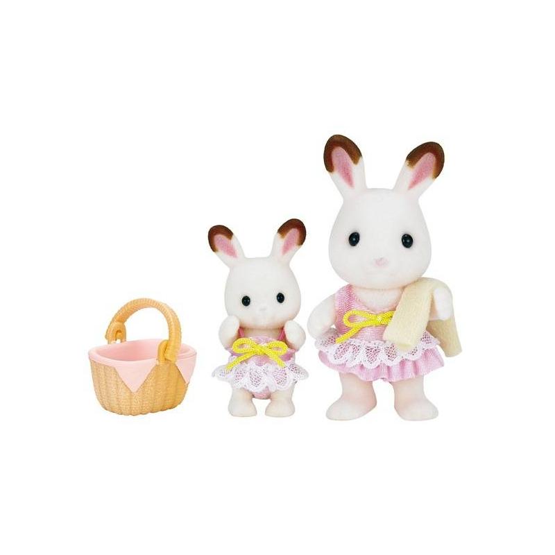 ФОТО sylvanian families Набор Кролики в купальных костюмах