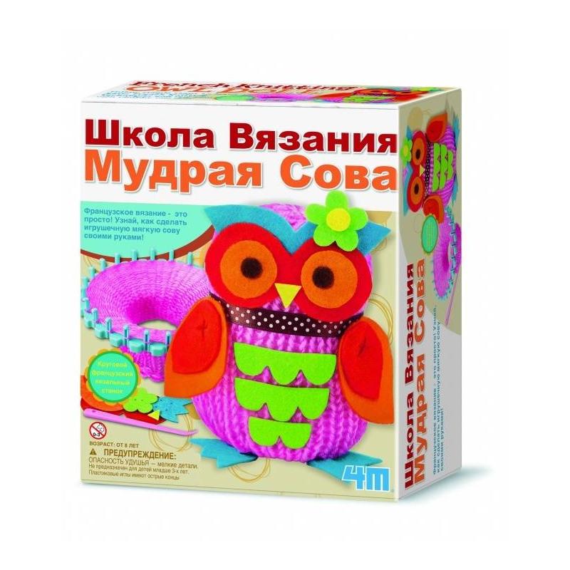 4М Школа вязания Мудрая Сова наборы для творчества 4м набор веселые штампики 00 04614