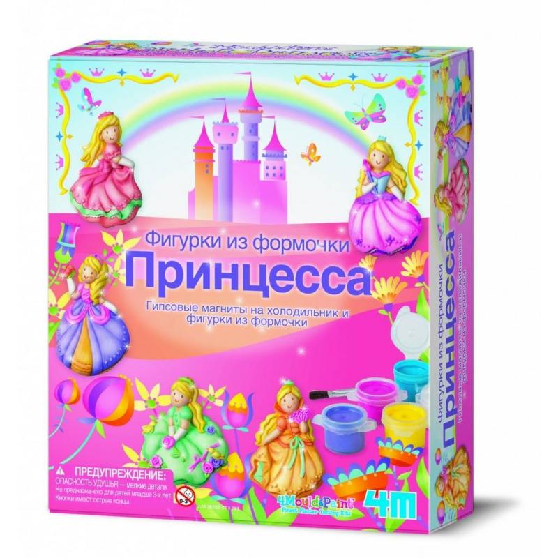 4М Фигурки из формочки Принцесса наборы для творчества 4м фигурки из формочки принцесса 00 03528