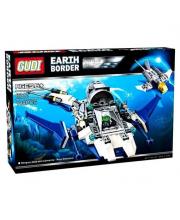 Конструктор совместимый с LEGO Патрульный звездолет 180 деталей GUDI