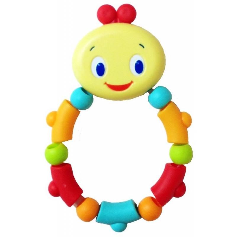 Прорезыватель ГусеничкаПрорезыватель Гусеничка марки Bright Starts.<br>Развивающая игрушка-прорезыватель помогает снять боль в период роста зубов. Модель выполнена из ярких бусин с веселой мордочкой. Прорезыватель не только успокоит десна, но и развлечет малыша, когда он будет его перебирать. Удобная игрушка с милым дизайном.<br><br>Возраст от: 3 месяца<br>Пол: Не указан<br>Артикул: 653209<br>Бренд: США<br>Размер: от 3 месяцев