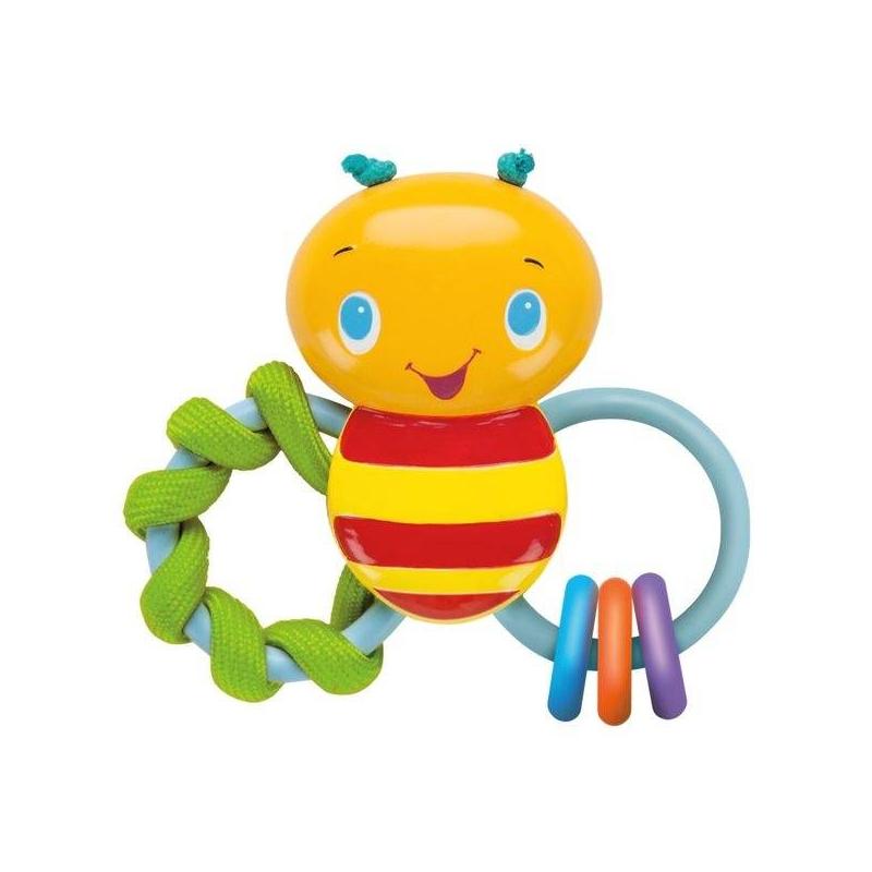 Погремушка ПчелкаПогремушка Пчелка марки Bright Starts.<br>Развивающая игрушка в форме забавной пчелки с разноцветными колечками, которые издают веселые, звонкие звуки, дарящие малышу веселье и радость. Модель отличается своими небольшими размерами, благодаря чему любой ребенок может ее удобно держать в ручках.<br><br>Возраст от: 3 месяца<br>Пол: Не указан<br>Артикул: 653218<br>Бренд: США<br>Размер: от 3 месяцев