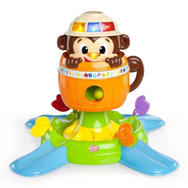 Bright Starts Развивающая игрушка Обезьянка в бочке развивающая игрушка bright starts развивающая игрушка обезьянка на кольцах