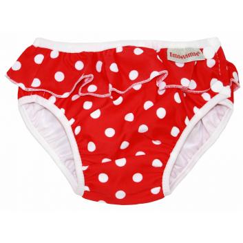 Трусики для купания Red dots frill