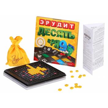 Игрушки, Настольная игра Эрудит Десять в ряд Биплант 658363, фото