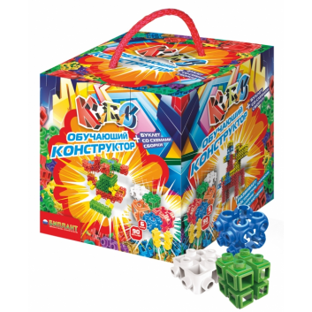 Игрушки, Конструктор Кубус №1 90 элементов Биплант 658451, фото